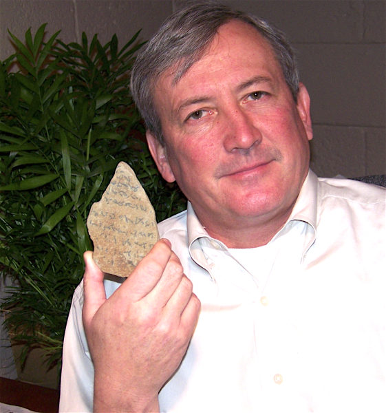 Kevin Callaghan; discoverer of the stone